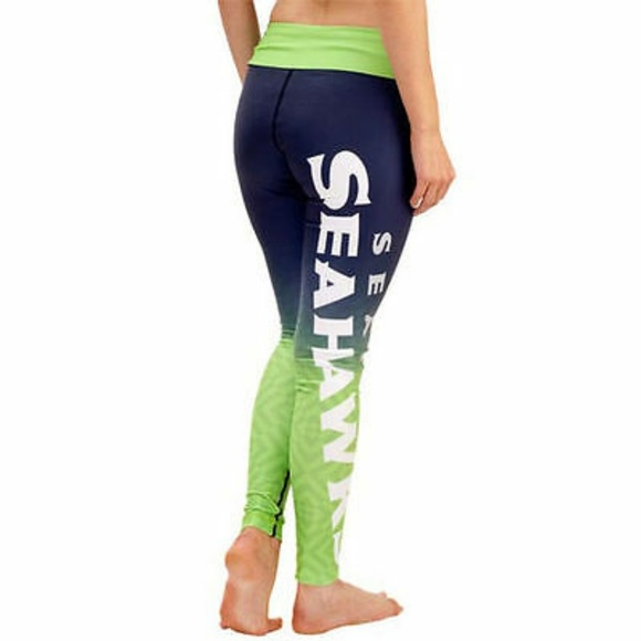 30a9116a 💙NFL Womens Seahawk Klew Navy Gradient leggings M NWT